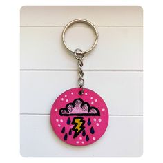 Excited to share this item from my #etsy shop: Handpainted Thunder and lightening Keychain Thunder And Lightning, Hand Painted, Etsy Shop, Personalized Items, Earrings, Silver, Thunder And Lighting, Ear Rings, Stud Earrings