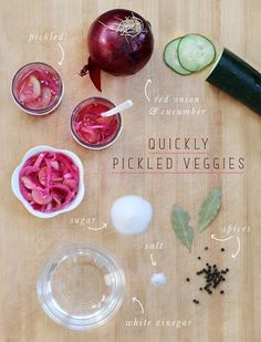 quickly pickled veggies