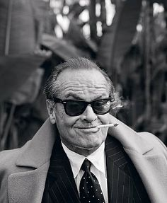 With my sunglasses on, I'm Jack Nicholson. Without them, I'm fat and Jack Nicholson Jack Nicholson, Kino Movie, Famous Faces, Make Me Smile, Movie Stars, I Laughed, Thinking Of You, Funny Quotes, Quotes Quotes