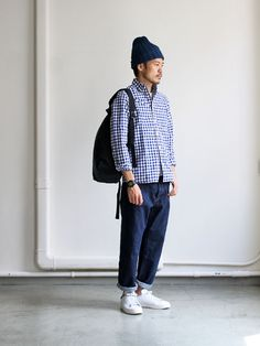 藍藍藍~還有方格襯衫來加分maillot sunset big gingham B.D. shirts