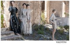 Valentino S/S 12.  photographed by Deborah Turbeville (hair by Mark Hampton, makeup by Pierre Orlando, styled by Karl Templer). models Maud Welzen, Zuzanna Bijoch, Bette Franke, Fei Fei Sun.
