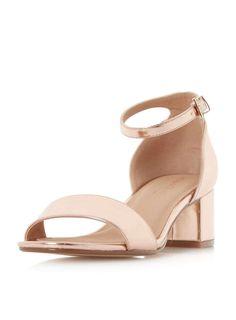 *Head Over Heels By Dune Rose Gold 'Ireena' Sandals