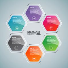 Infographic template design Free Vector