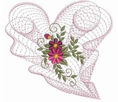 Rippled Floral Heart 2, 2 - 3 Sizes! | Floral - Flowers | Machine Embroidery Designs | SWAKembroidery.com Ace Points Embroidery