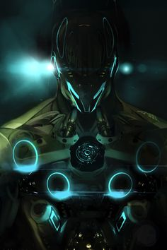 cybernetic armor again Futuristic Armour, Futuristic Art, Robot Concept Art, Armor Concept, Character Concept, Character Art, Science Fiction, Mode Cyberpunk, Arte Robot
