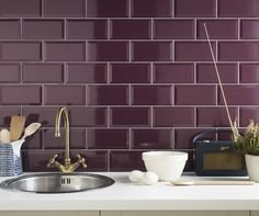 plum subway tile - Google Search