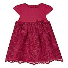 RJR.John Rocha - Designer babies pink embroidered floral skirt dress