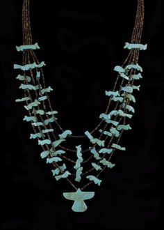 Turquoise Five Strand Fetish Necklace California Rodeo Salinas- come see us at booth #58