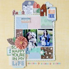 """""""So happy you're in my life"""" by Tegan Skwiat. American Crafts"""