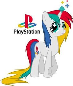 Playstation is a old fashioned pony who loves video games. She and her best friend, Xbox One, like to play video games together at least 7 times a week. ;)