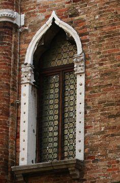 elegant museum window in Venice