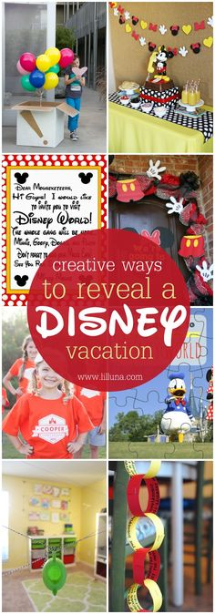 Creative Ways to Reveal a Disney Vacation - so many great ideas!! Saving this list for our trip to the Happiest Place on the Earth! #ad