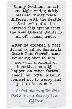 Maybe All Of Us Could Learn Something From Coach Pete Carroll