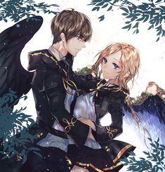 Anime Girls, Anime Couples Manga, Anime Neko, Manga Anime, Anime Art, Cute Anime Coupes, Anime Music Videos, Angel And Devil, Anime Love Couple