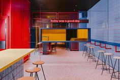 In its latest Wroclaw project – a true urban bar – local BUCK.STUDIO created a full immersion into the American street-life culture of the Garage House, Street Culture, Pop Culture, Urban Bar, Pop Art, Nathalie Du Pasquier, Retail Interior Design, Interior Designing, Modern Interior