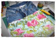heute will ich etwas total cooles zeigen - wie mache ich aus einer Jeans einen Rock, damit das gut nachvollziehbar ist habe ich eine Schrit...