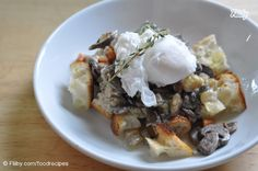 Poached Eggs Over Collard Greens & Shiitake Mushrooms