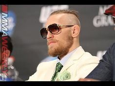Conor McGregor: Gold Belt and Ivory Elephant Trunk Suit (UFC 178 Post Press)