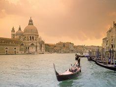 Grande Canal de Veneza ao Pôr-do-Sol
