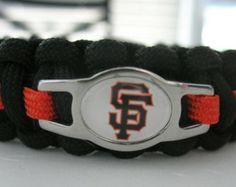 San Francisco Giants Paracord Bracelet with a Double Core