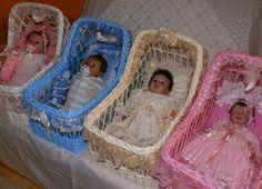 cradle, crib, bassinet ,OOAK baby,for Basket Drawers, Dolls Prams, Moise, Vintage Shabby Chic, Doll Furniture, Reborn Dolls, Bassinet, Cribs, Wicker