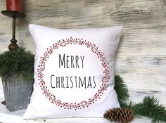 Christmas Pillow & wreath.https://www.etsy.com/listing/475734220/christmas-wreath-pillow-christmas?ref=shop_home_active_2