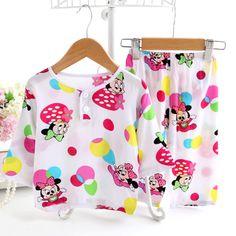 淘宝发现—儿童睡衣绵绸长袖套装夏季薄款宝宝棉绸可爱小孩人造棉空调家居服