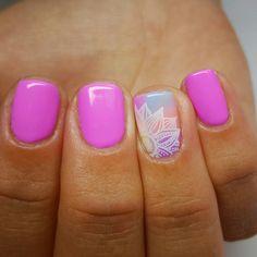 Fun nails, pretty nails, love nails, gorgeous nails, beautiful nail a Get Nails, Love Nails, How To Do Nails, Shellac Nails, Acrylic Nails, Nail Polish, Spring Nails, Summer Nails, Uñas Diy
