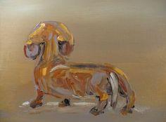 Dachshund painting- Susane Jones