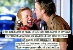 There are not a ton of Nicholas Sparks movies that I'm a huge fan of. The Notebook, though, is hands down a favorite.  A favorite book and a favorite movie.  One of the rare times I've enjoyed the movie as much as the book.