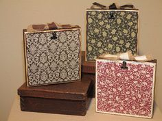Wooden Block Photo Holders