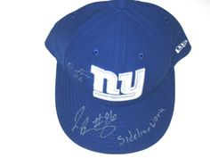 buy online f90d0 cf967 Jay Bromley Sideline Worn   Signed New York Giants New Era Hat -Also Signed  by