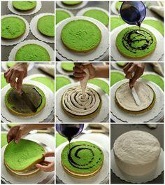 Kek Onde-onde yang sedap sangat! - masam manis Indonesian Desserts, Asian Desserts, Just Desserts, Cake Roll Recipes, Dessert Cake Recipes, Cookie Recipes, Buko Pandan Cake Recipe, Ondeh Ondeh Cake Recipe, Cake Varieties