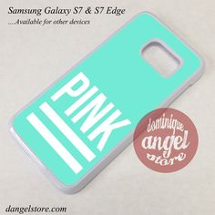Pink Blue Victoria's Secret Phone Case for Samsung Galaxy S7 and Galaxy S7 Edge