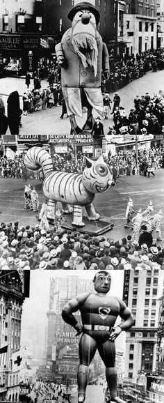 The Macys Thanksgiving Day Parade circa 1939.