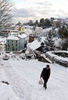 Cushendall in Snow, County Antrim, Northern Ireland