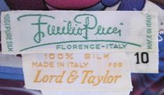 Emilio Pucci Silk Jersey Vintage Dress Label by wearitsatvintage, via Flickr