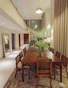 RESIDÊNCIA MENDANHA - ANUAL DESIGN CENTRO DO BRASIL My House, Art Deco, Dining Room, Dining Table, Interior Design, Furniture, Home Decor, Amanda, Architectural Firm