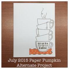 July 2015 Thanks a Latte Paper Pumpkin alternative project by Jennifer @ One Crafty Sister