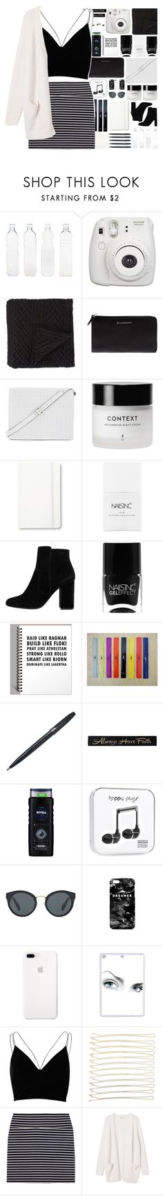 """Black and white"" by stelbell ❤ liked on Polyvore featuring Seletti, Fujifilm, Morgan Collection, Givenchy, BCBGMAXAZRIA, Moleskine, Nails Inc., MANGO, Pentel and DutchCrafters"
