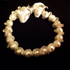 My first Pearl Necklace, Pearls, Bracelets, Jewelry, String Of Pearls, Jewels, Schmuck, Pearl Necklaces, Jewerly