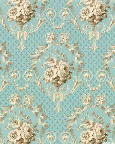 Jardin Gris - Baroque Rose - Dusty Aqua