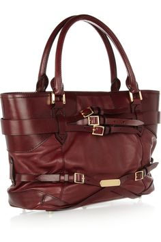 Burberry Shoes & Accessories Buckle-embellished leather tote NET-A-PORTER.COM