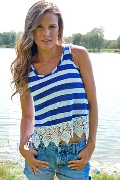 Summer Days Striped Crop from Paperback Boutique