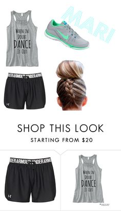"""""""Untitled #23"""" by taylia-huyser ❤ liked on Polyvore featuring Under Armour and NIKE"""