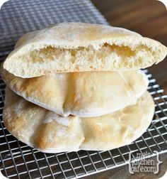 pita breads (makes 6)  INGREDIENTS:  1 tablespoon instant yeast  1 1/4 cups warm water  1 teaspoon salt  3 to 3 1/2 cups all-purpose flour