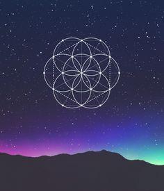 seed of life, sky, blue sky, mandala...