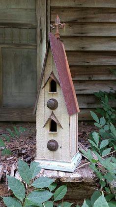 White birdhouse!