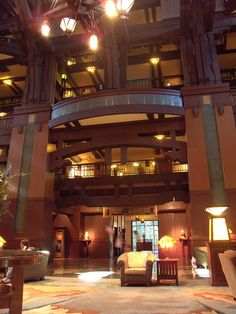 Grand Californian Hotel Lobby. Want to stay at that hotel again.  Several times....
