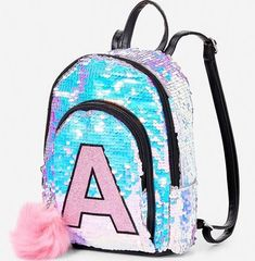 justice backpacks with letter h